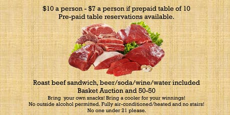 AYF Reserved Table of 10 for 4th Annual Meat Raffle tickets