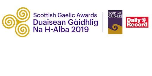 Scottish Gaelic Awards 2019