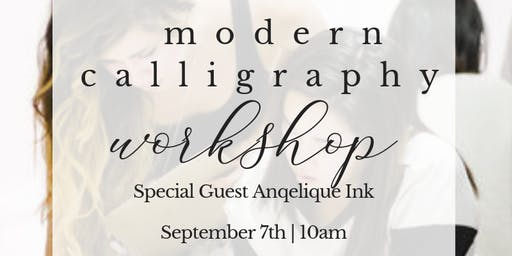 Modern Calligraphy by the Sea | Angelique Ink