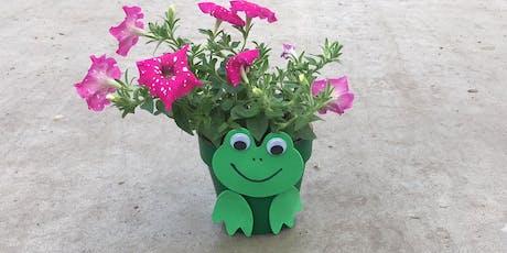 Kids Workshop: Frog Flower Pot 9/14/19 @10am tickets