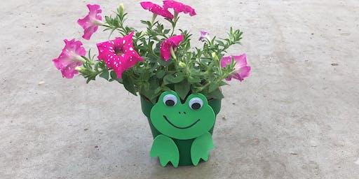 Kids Workshop: Frog Flower Pot 9/14/19 @10am