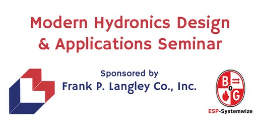 Modern Hydronics Design & Applications Seminar - Rochester