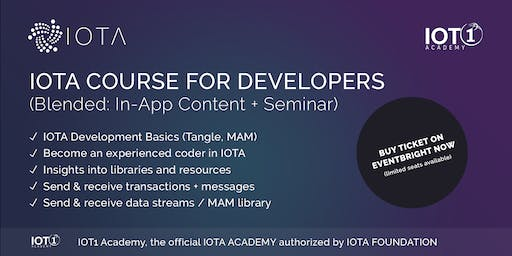 IOTA Course for Developers // Seminar + Learning App + Premium Support