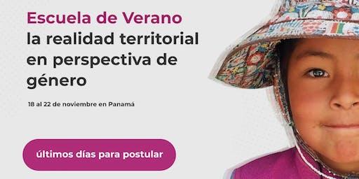 Escuela de Verano: La realidad territorial en perspectiva de género