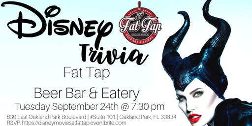 Disney Movie Trivia at Fat Tap Beer Bar and Eatery