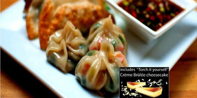 Date Night: Dumplings Cooking Class w. wine + Dessert in Manayunk (Philly)