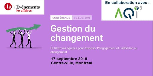 Conférence Gestion du Changement - Événements Les Affaires