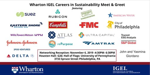 Wharton IGEL Careers in Sustainability Leadership Meet & Greet