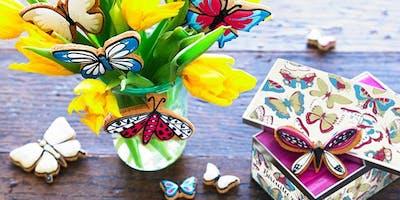 Biscuiteers School of Icing - Butterflies - Nottin