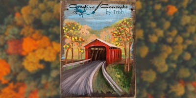 Fall Bridge Slate Paint Night