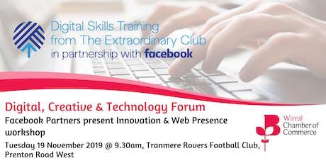 Facebook Partners present Innovation & Web Presence workshop  tickets