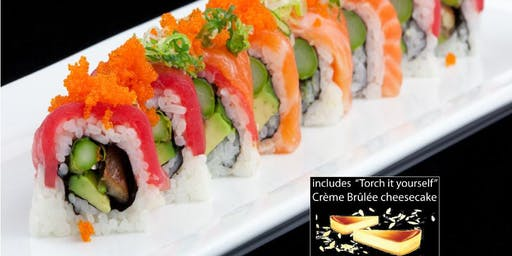 Date Night: Sushi Cooking Class w. complimentary Sake & Dessert + Sushi Mat