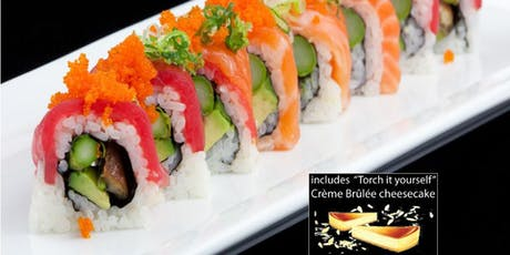 Sushi Cooking Class w. complimentary Sake & Dessert + Sushi Mat tickets