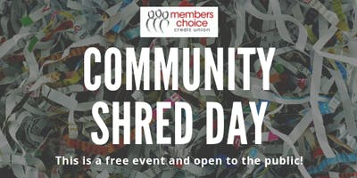 Community Shred Day - September 2019