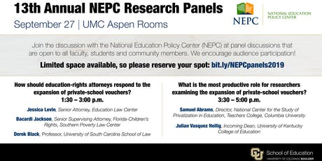 13th Annual NEPC Research Panels September 27, 2019 tickets