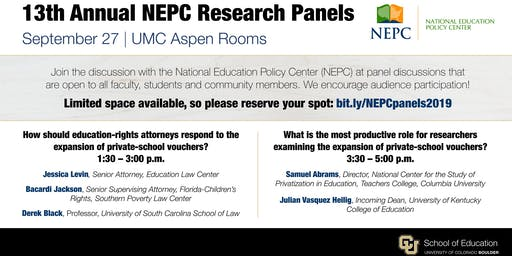13th Annual NEPC Research Panels September 27, 2019