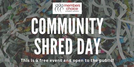 Community Shred Day - November 2019 tickets
