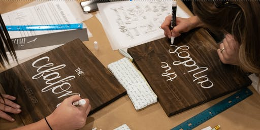 Wood Sign Calligraphy Workshop