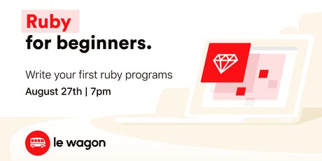 Ruby for Beginners - coding workshop tickets
