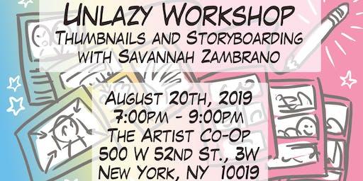 Unlazy Workshop #3 Thumbnails and Storyboards