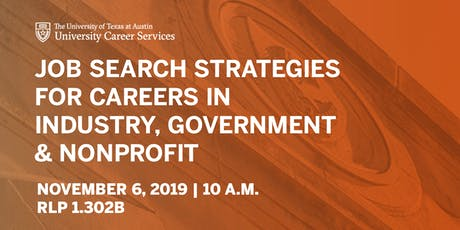 Job Search Strategies for Careers in Industry, Government and Nonprofit tickets
