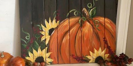 Pumpkin Paint Pallet Party @ Lucky's Market tickets