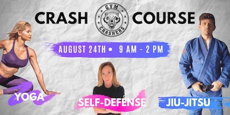 CRASH COURSE: Yoga, Women's Self Defense and Brazilian Jiu-Jitsu Workshop tickets