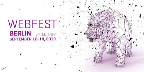 Webfest Berlin 2019 tickets