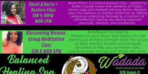 Barre and Restore Fitness Class