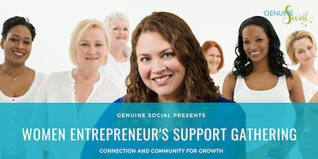 September Women Entrepreneur's Support Gathering - Genuine Social(TM) tickets