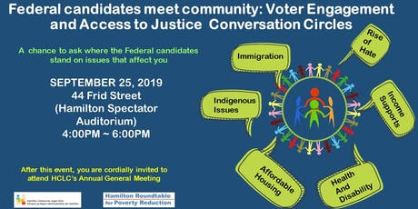 Candidates meet community: Voter Engagement and Access to Justice tickets