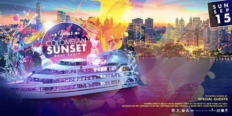Yeras Colombian Sunset Cruise on the Mega Yacht Infinity - Boat Party NYC tickets