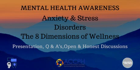 Mental Health Awareness, Anxiety & Wellness - Lets talk and share. tickets