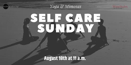 Yoga and Mimosa - Self Care Sunday