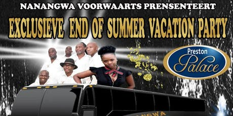 Exclusieve End of Summer  (& Herfst) Vacation Party tickets