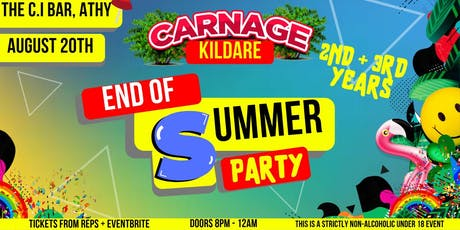 Carnage - 2nd & 3rd Years at C.I Bar, Athy! tickets