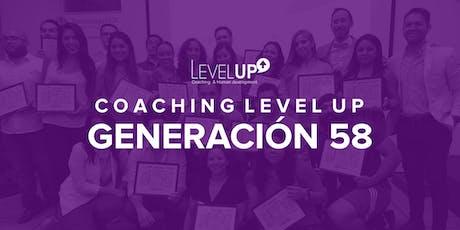 Coaching Level Up - Generación 58  tickets