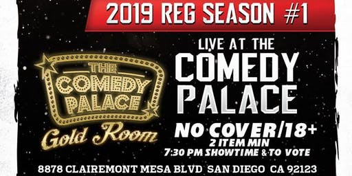 San Diego Comedy League 2019: S1: TCP Gold Room - Sat.July 31st