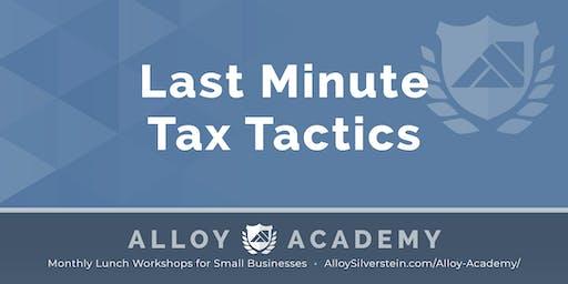 Last Minute Tax Tactics - Alloy Academy Cherry Hill