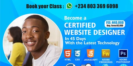 BECOME A CERTIFIED WEBSITE DESIGNER IN UNILAG tickets