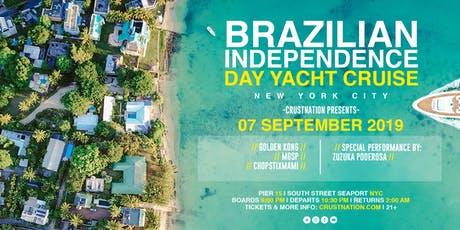 NYC LOVES BRAZIL Yacht Cruise: Saturday September 7 NYC Boat Party tickets