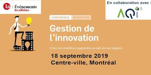 Conférence Gestion de l'innovation - Événements Les Affaires