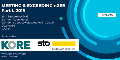 Meeting & Exceeding nZEB - Part L 2019 with KORE Insulation & STO tickets