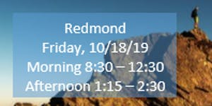 Redmond Afternoon Fall Regional Training Hands-on Deep...