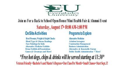 Everglades University Open House tickets