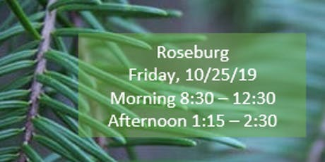 Roseburg Morning Fall Regional Training SECC/Child Find/Data Manager tickets