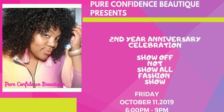 Pure Confidence Beautique's Show Off Not Show  All Mini Fashion Show tickets