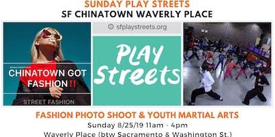 Sunday Play Streets - Fashion Photo Shoot & Youth Martial Arts