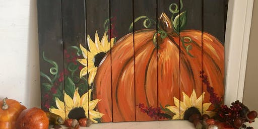 Pumpkin Pallet Paint Party @ Third Culture Kitchen
