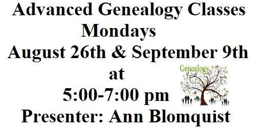 Next Steps of Genealogy (Advanced Genealogy)